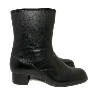 Vintage Sears Waterproof Black Boots Size 8